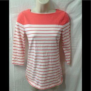 Women's size XS MERONA striped boat neck top